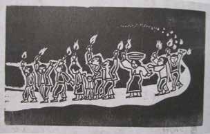 「五月-2 たいまつ行進」1983 年