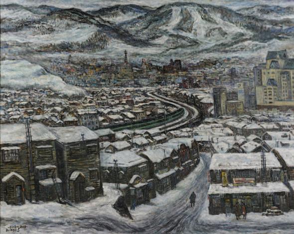 冬の街(小樽)2008年 F150号