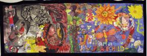 ボーンフリーアートジャパン(坂口しほ・増山麗奈・インドと福島の子ども達) ボーンフリー・ゲルニカ
