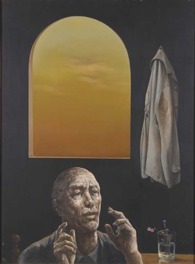 図版5 夕焼けの窓 1972 年