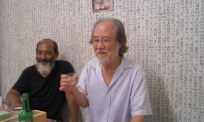 Shin Hyun Kookさんとドジョウ鍋で乾杯