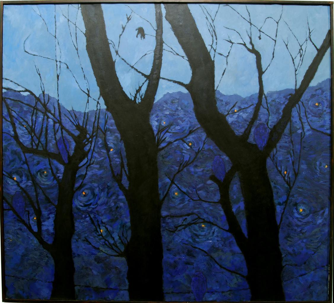 """Nocturn"" Pintura al oli. 100x110 cm."