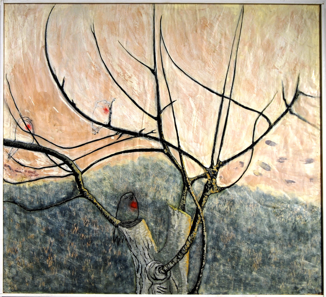 """Sol d'hivern"" Pintura al oli. 101x110 cm."