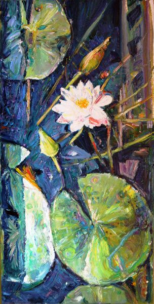 Lily. 2010. Oil on canvas. 100 x 50