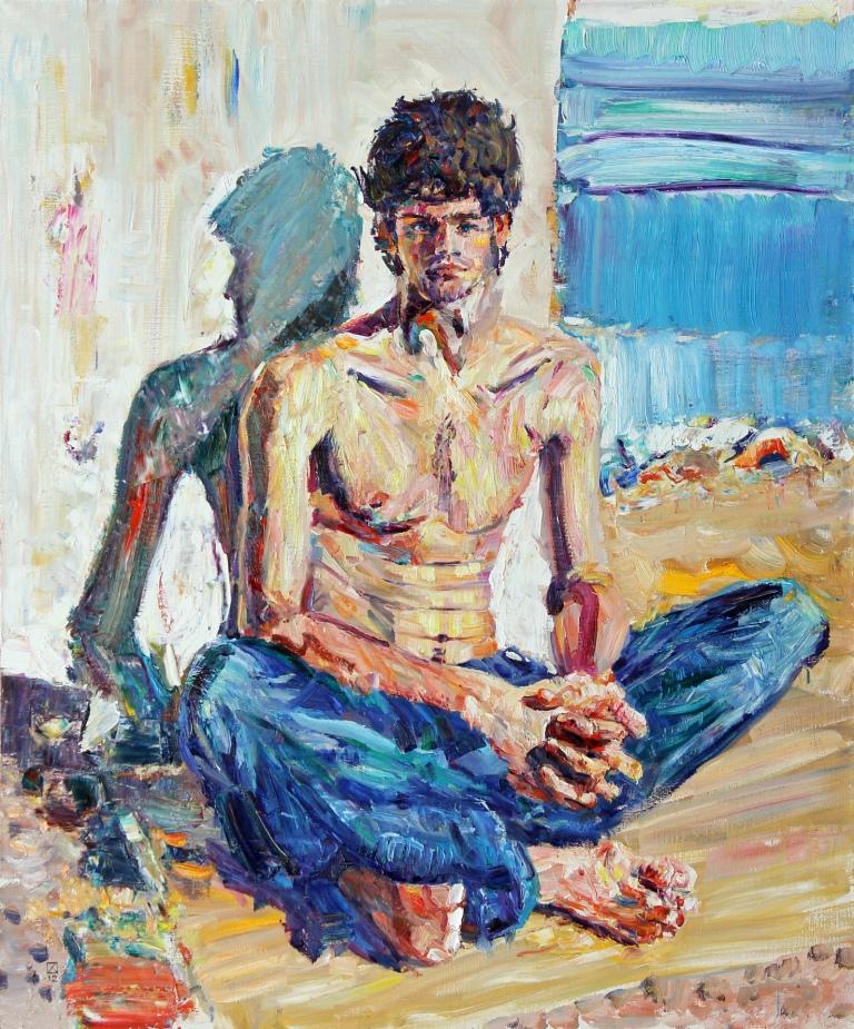 Zakhar. In Duino. 2012. Oil on canvas. 120 х 100