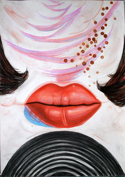 Lubov Zagorskаya. 1992. Charcoal, pastel on paper. 86 х 61