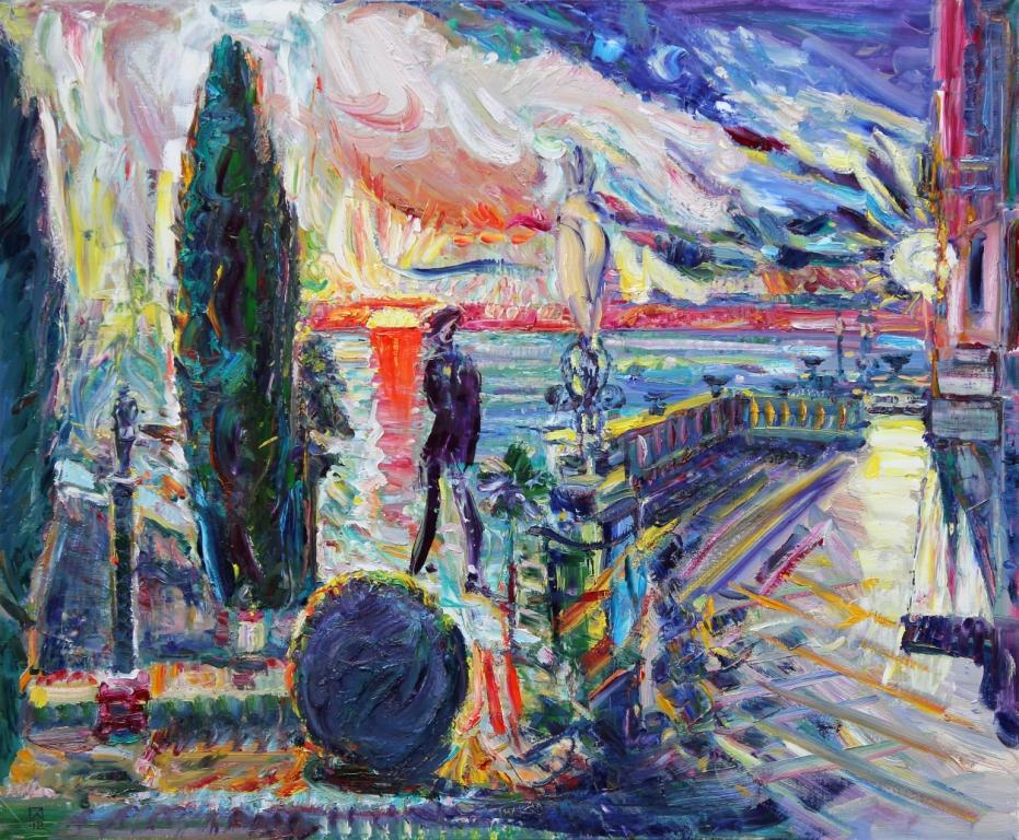 In December. Miramare. 2012. Oil on canvas. 100 х 120