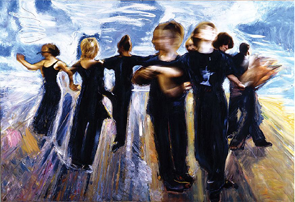Dance. 2008. Oil on canvas. 144 x 207