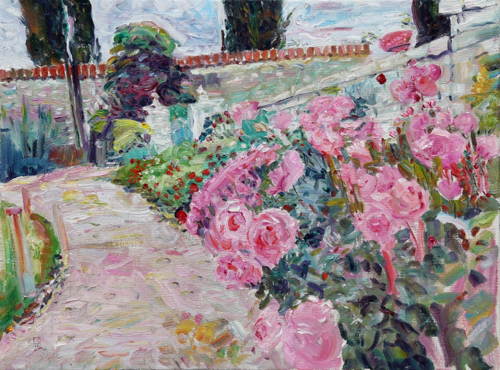 Pink Path 2012  Oil on canvas 90 х 120