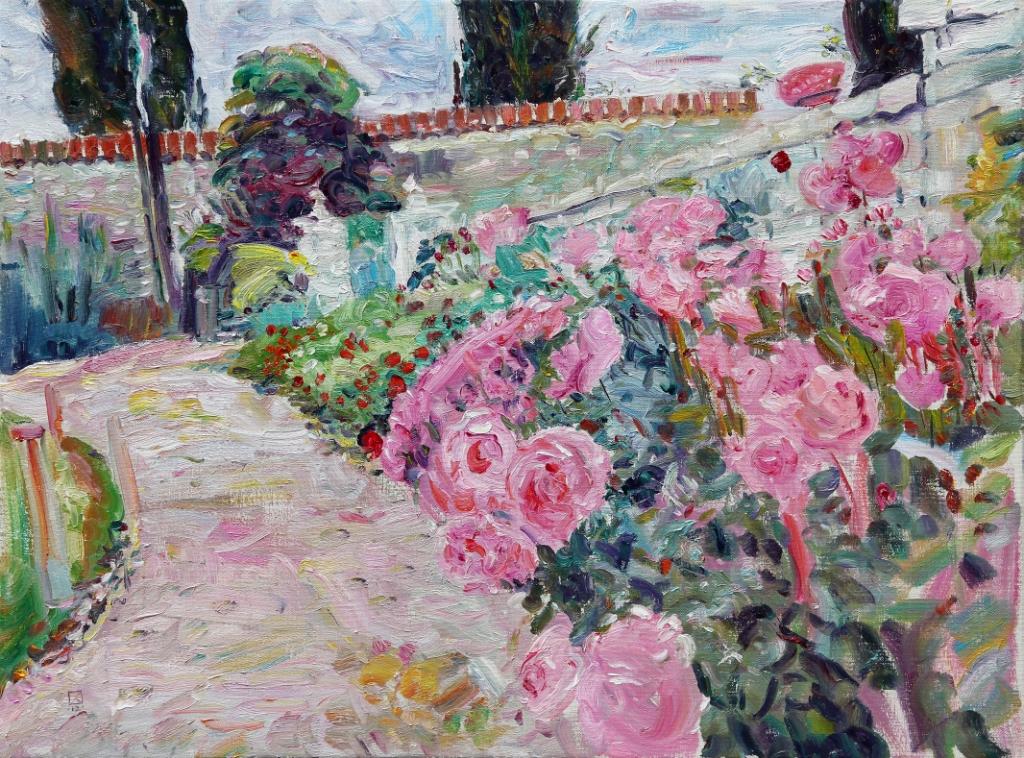 Pink Path 2012  Oil on canvas 90 х 120