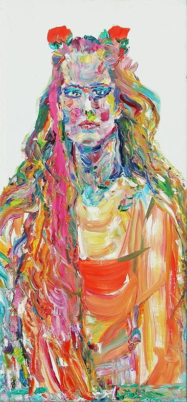 Stranger. Redhead. 2018. Oil on canvas. 85 х 40