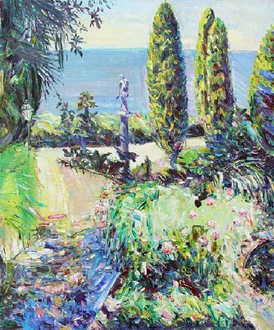 Miramare. Parterre. 2011. Oil on canvas. 120 х 100