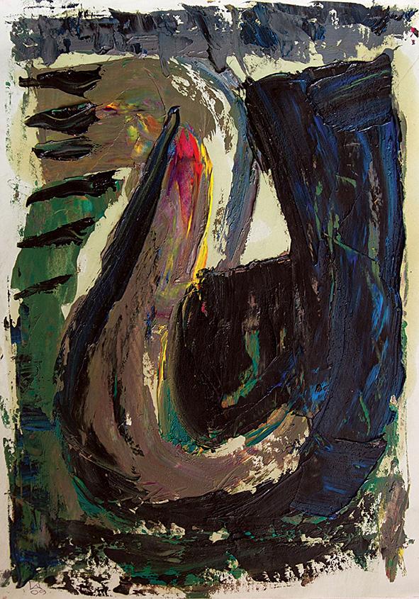 Gondola. 2009. Oil on cardboard. 29.5 х 21