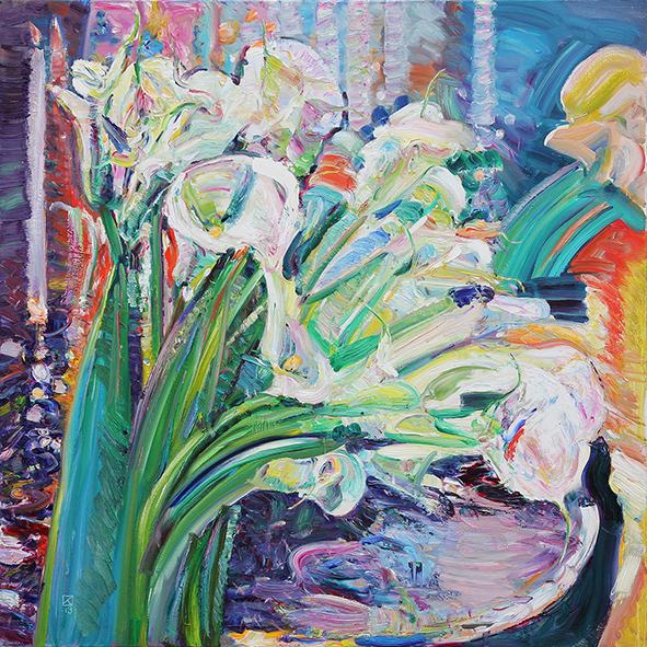 Callas. 2013. Oil on canvas. 100 х 100