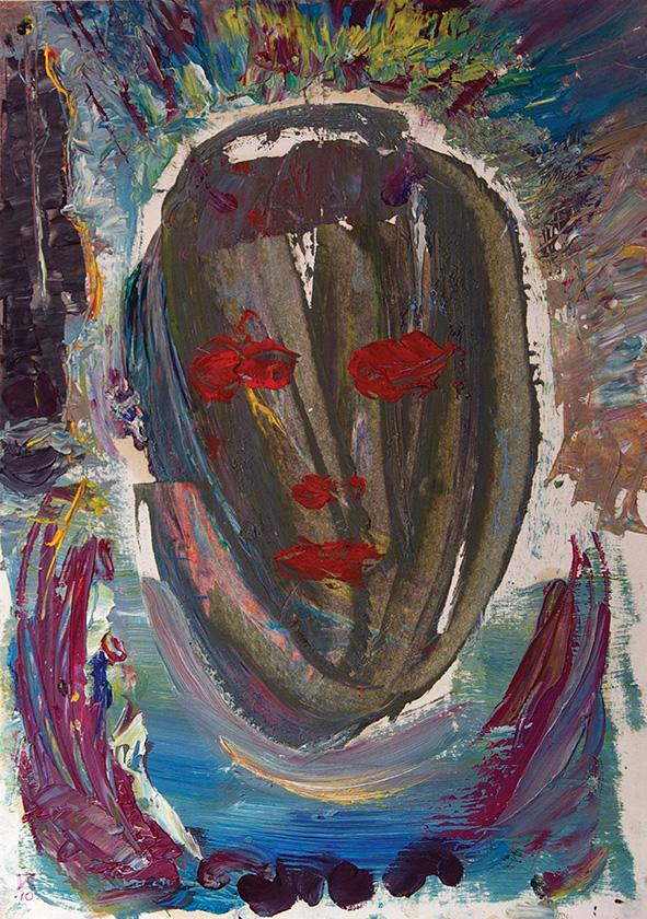 Venetian Portrait (19). 2010 Oil on paper. 29.5 х 21