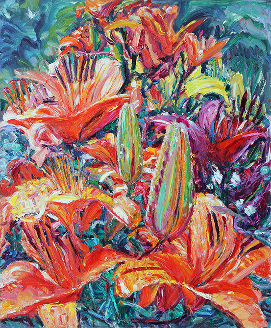I am in the Flower. 2013. Oil on canvas. 120 х 100