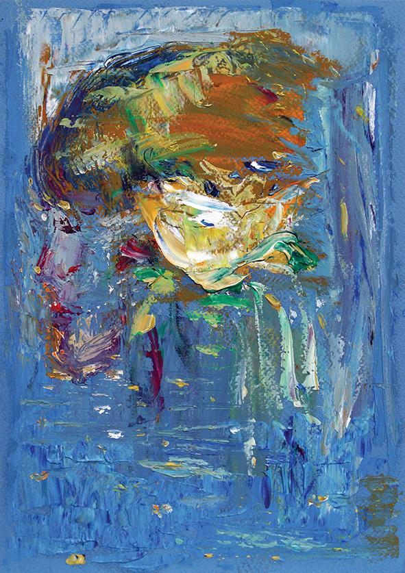Lily. 2010. Oil on cardboard. 29.5 x 21