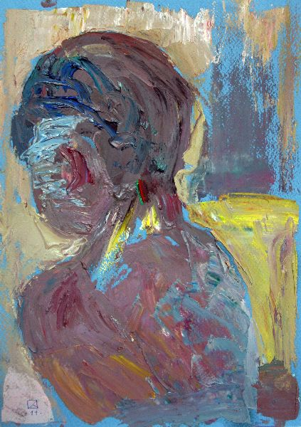 Morning. 2011. Oil on cardboard. 29.5 x 21