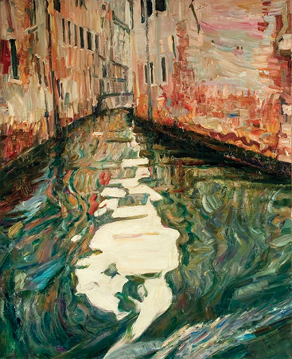 A Flow of Vivid Speech. 2010. Oil on canvas. 100 х 80