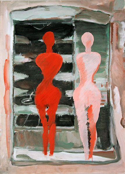 At the Bill. 1995. Tempera on cardboard. 70 х 50