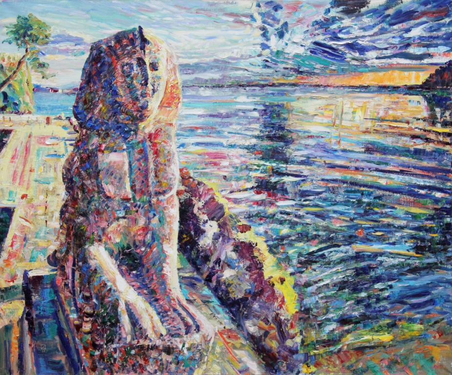 Miramare. Sphinx. 2011. Oil on canvas. 100 х 120