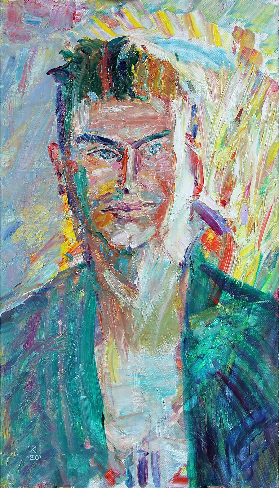 Zhenya Son. 2020. Oil on canvas. 70 x 40