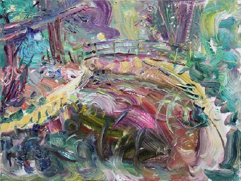 Miramare. Summer Pond. 2011. Oil on canvas, cardboard. 30 х 40
