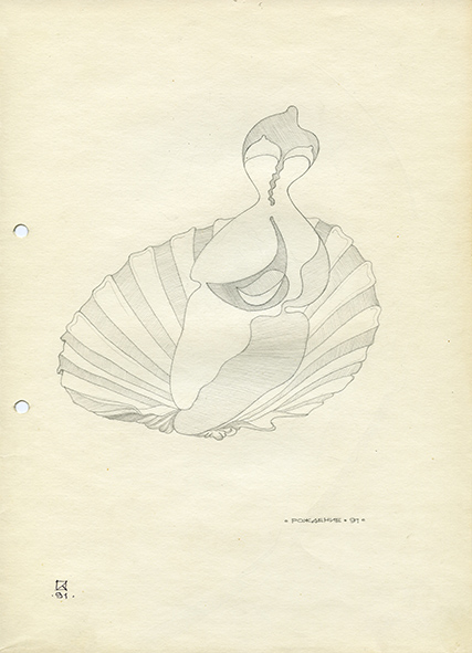 Birth. 1991. Pencil on paper. 30 х 21