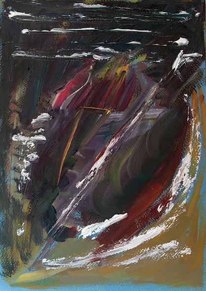 Night. Dissaray of Dreams. 2010. Oil on cardboard. 30 х 21