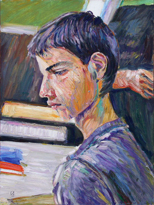 Student. 2011. Oil on canvas. 80 x 60