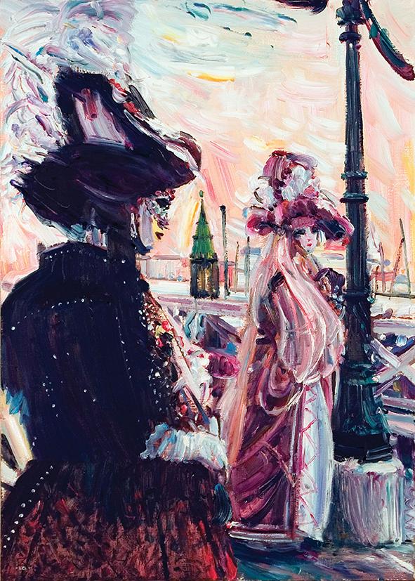Two near the Pier. Venice. 2010. Oil on canvas. 70 х 50