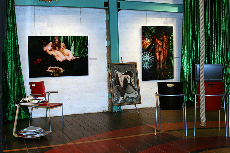 The exhibition 'Wild Lake' in the Art Colony gallery in Art Play. Moscow, 2008