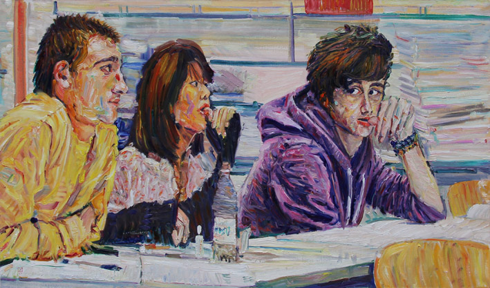 Curious. 2011. Oil on canvas. 70 x 120