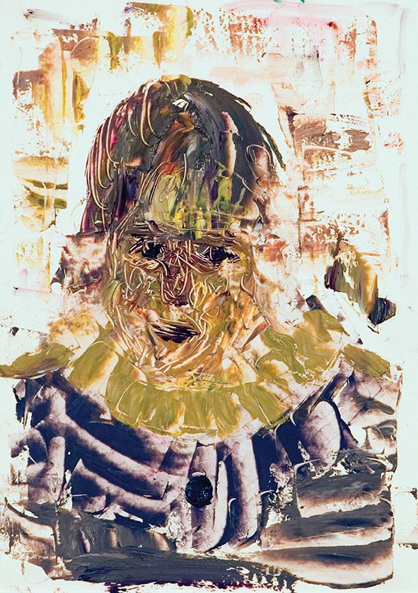 Harlequin. 2010. Oil on cardboard. 29.5 х 21