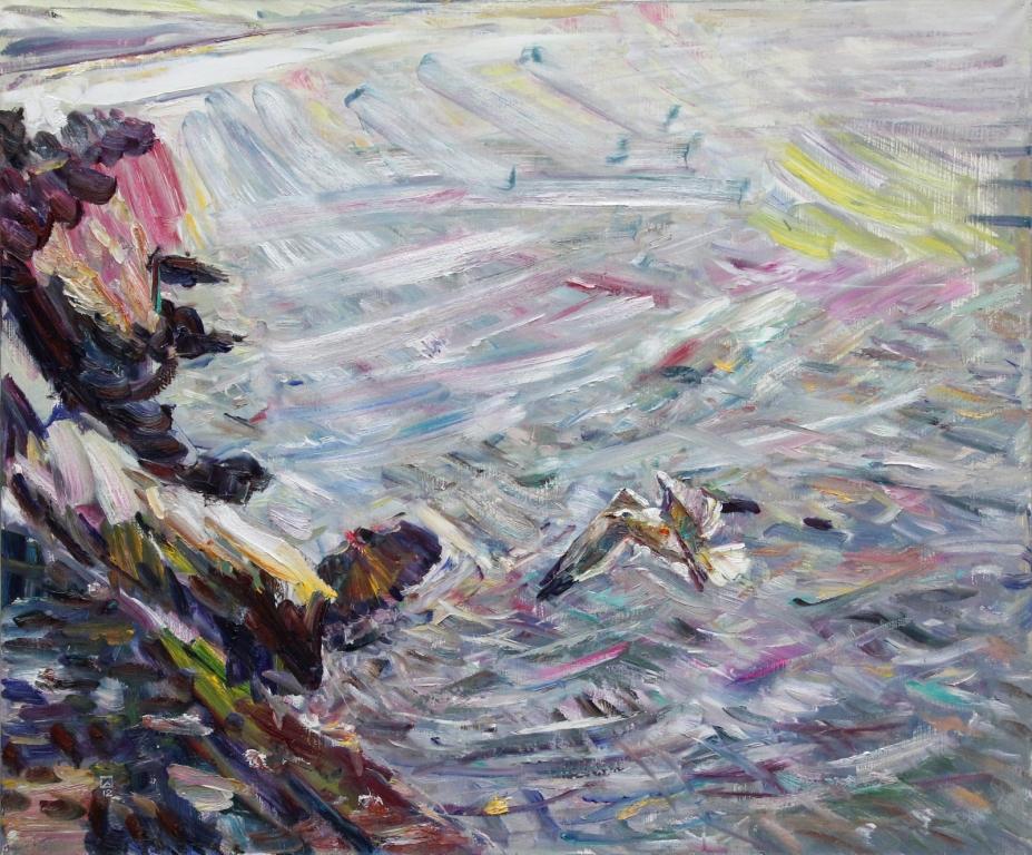 Inviting Mew. 2012. Oil on canvas. 100 х 120