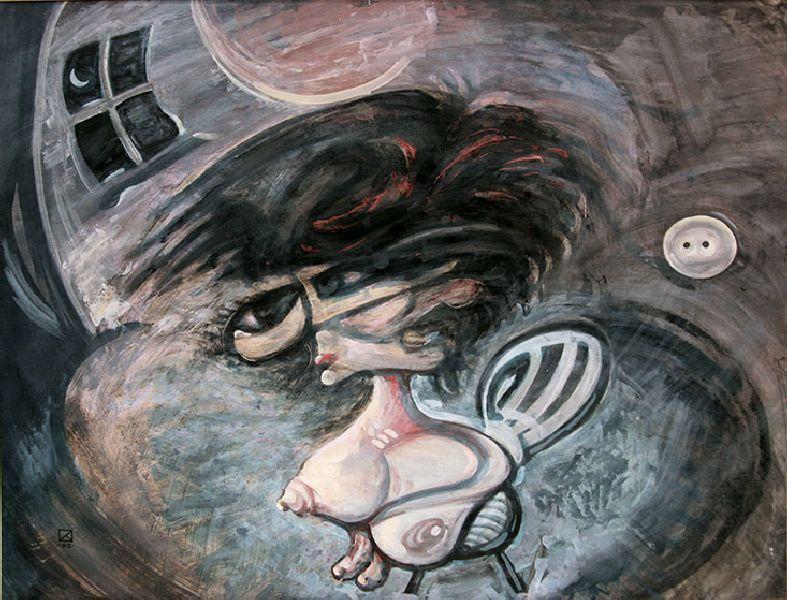 Daughter-Night. 1993. Tempera on paper. 58.5 х 77