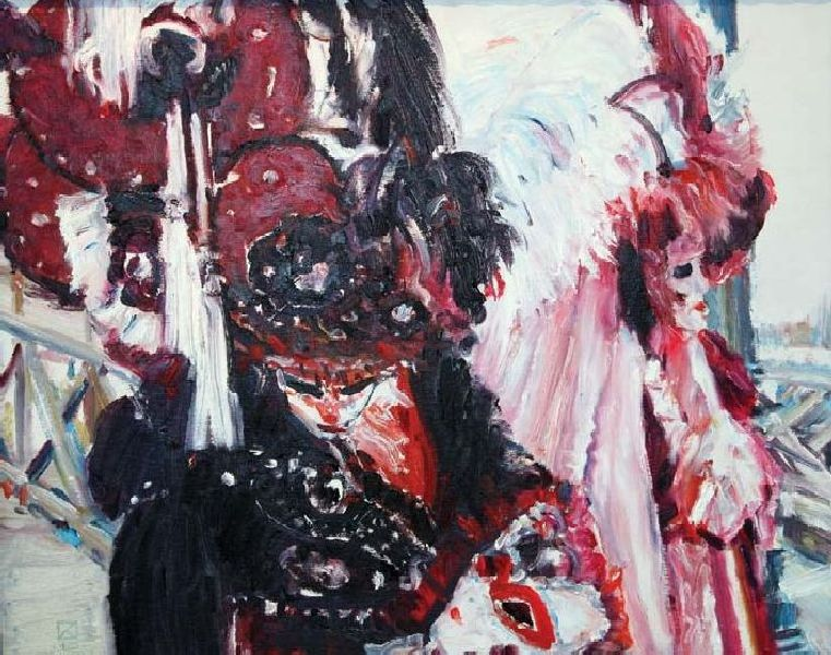 Carnival Evening. 2010. Oil on canvas, cardboard. 40 х 50