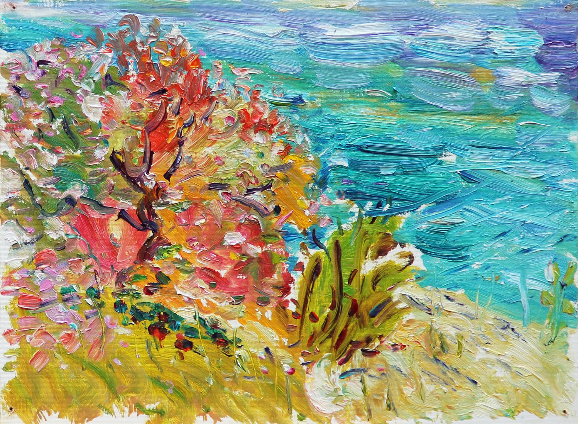 Adriatic Bush. 2012. Oil on cardboard, canvas. 30 х 40