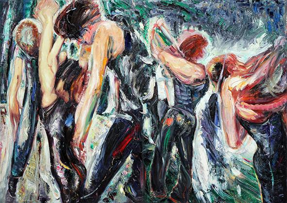 Cloud 12-13. 2006. Oil on canvas. 85 х 120