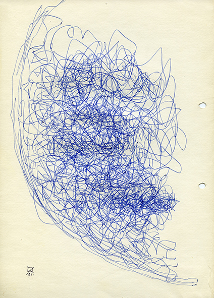 Untitled. 1991. Ballpoint pen on paper. 30 х 21