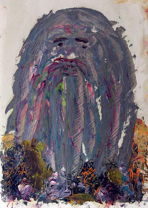 Wood Goblin. 2009. Oil on cardboard. 30 х 20.5