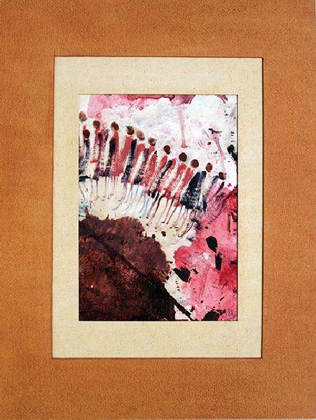 Podium. 1992. Oil on cardboard. 32 х 23