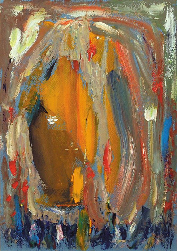 Youth.  2010. Oil on cardboard. 29.5 x 20.5