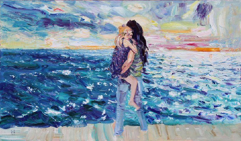 Miramare. Horizon. 2011. Oil on canvas. 50 x 100