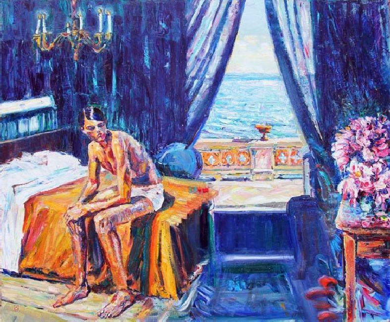 Miramare. Boy. 2011. Oil on canvas. 100 x 120