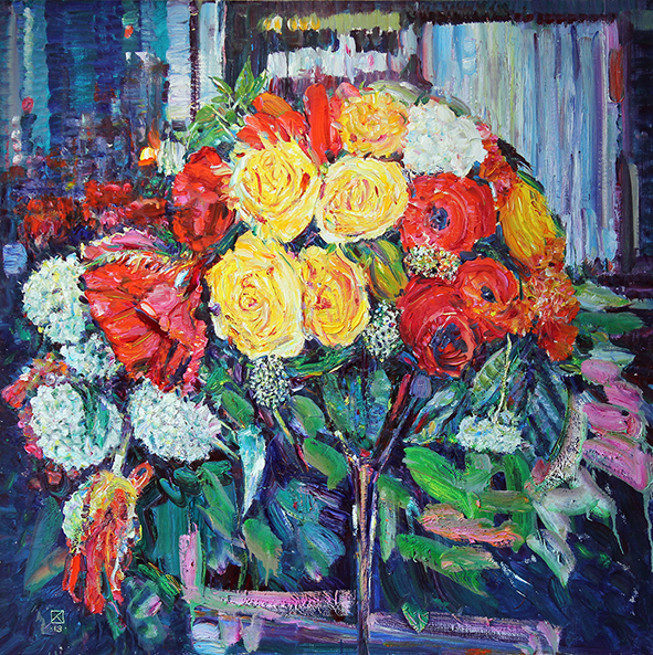 Evening Bouquet. 2013. Oil on canvas. 100 х 100