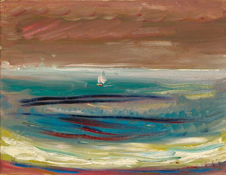 White Schoone. 2010. Oil on canvas, cardboar 35 х 45