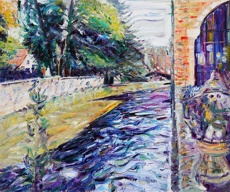 Flowing Away Shadows of Bruges. 2012. Oil on canvas. 100 х 120