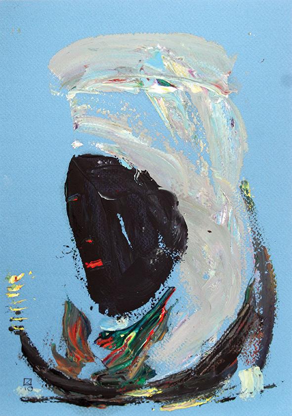 Black Sheikh. 2010. Oil on cardboard. 29.5 x 21