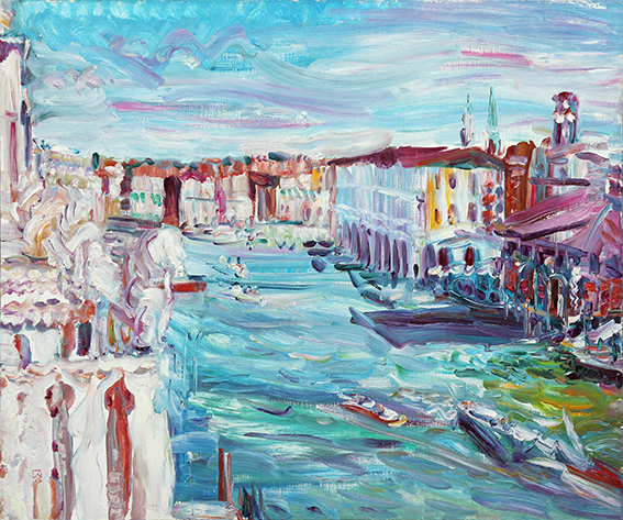 Summer tale. My favorite Venice! 2013. Oil on canvas. 100 x 120